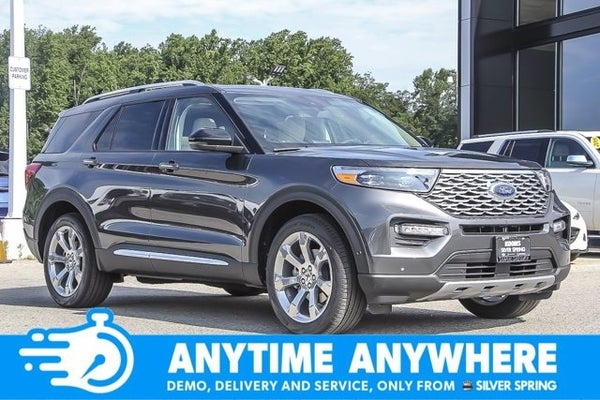 2020 Ford Explorer Platinum Silver Spring Md Bethesda Rockville Germantown Maryland 1fm5k8hc0lgc42503