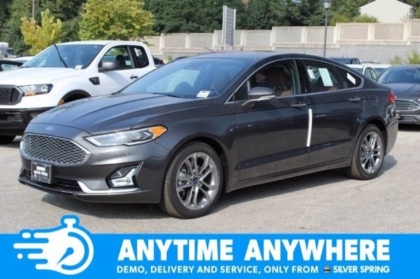 2020 Ford Fusion Hybrid Titanium Silver Spring Md Bethesda Rockville Germantown Maryland 3fa6p0ru1lr104793